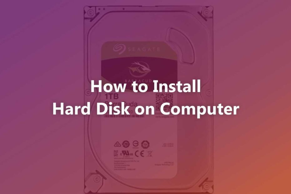 How to Install Hard Disk on Computer
