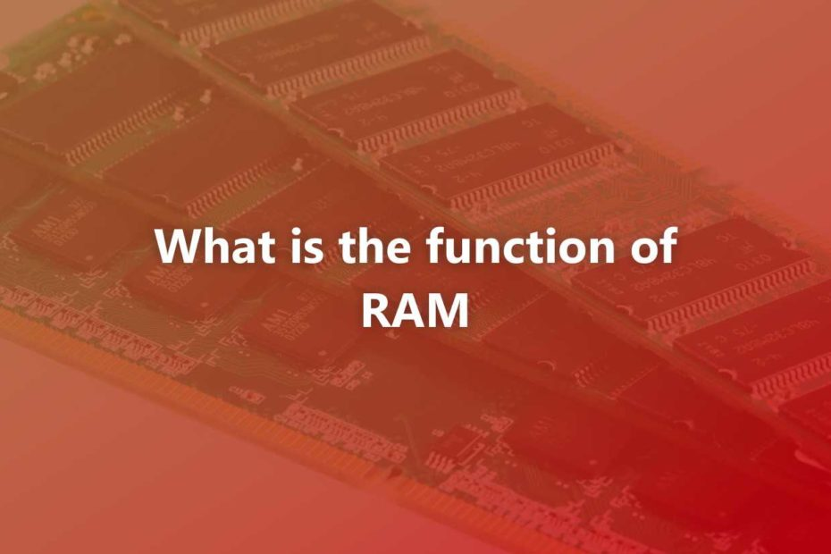 What is the function of RAM on a computer?