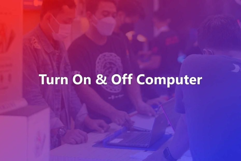 How to Turn On & Off Computer, PC and Laptop