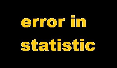 Jenis-Jenis Error Pada Statistik