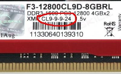 RAM memory timing label. Credit: bcot1.com