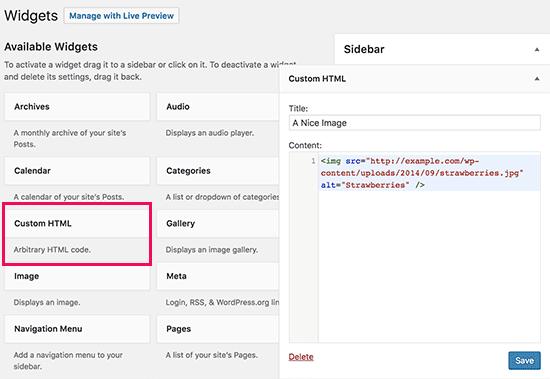 Cara Menambahkan Gambar di Sidebar Widget WordPress 1