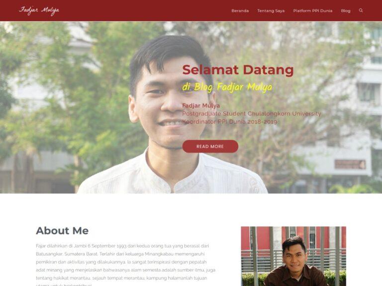 jasa pembuatan website personal branding fadjarmulya