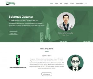 Pembuatan Website HMI Cabang Sleman