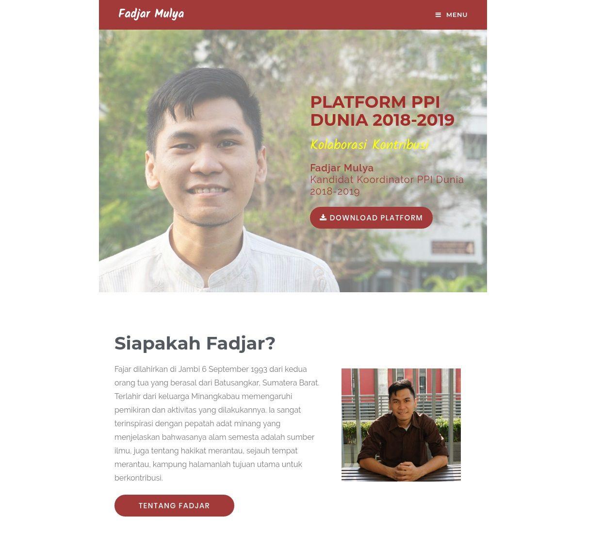 Digital Campaign Fadjar Mulya for PPI Dunia 2018