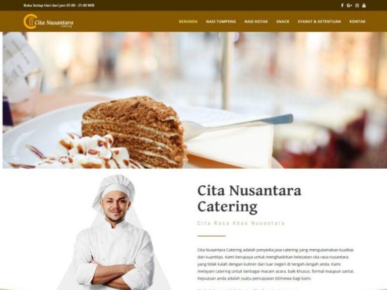 jasa pembuatan website perusahaan cita nusantara catering