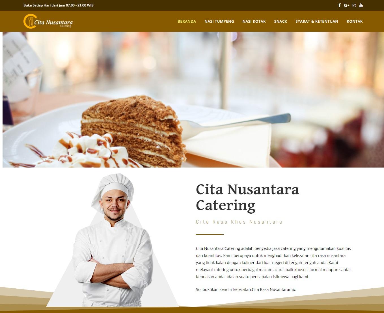 Website Cita Nusantara Catering