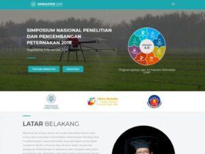 Pembuatan Website Seminar Peternakan Nasional UGM