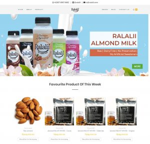 Pembuatan website Toko online ralalii.com