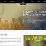 Website Festival Lembah Baliem