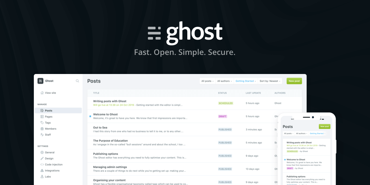 Mengenal Ghost.org, Penantang baru Wordpress di Dunia CMS